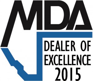 MDA dealer of excellence 2015 - 2 inches