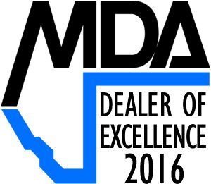 MDA dealer of excellence 2016 - 2 inches